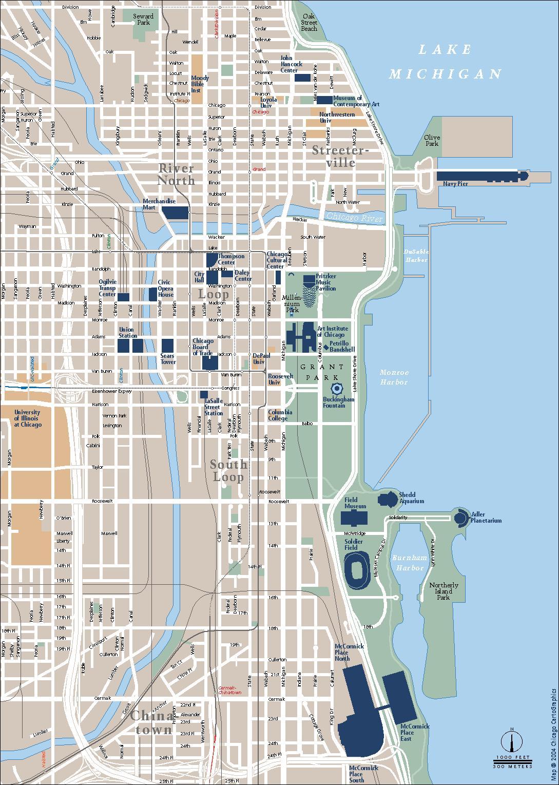 trafikk kart Chicago trafikk kart   Trafikk kart Chicago (Usa) trafikk kart